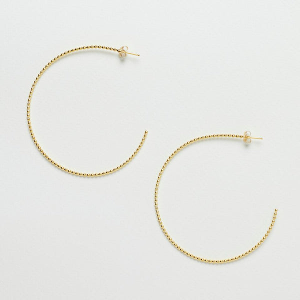 Dotted Hoop Earrings Gold
