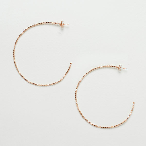 Dotted Hoop Earrings Rose Gold