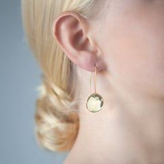 Organic Droplet Earrings Rose Gold