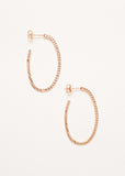 A pair of Rose Gold Plated 925 Sterling Silver Hoops with Texture