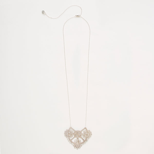 Parisian Lace Necklace Silver