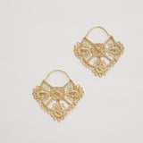 Parisian Lace Earrings Gold