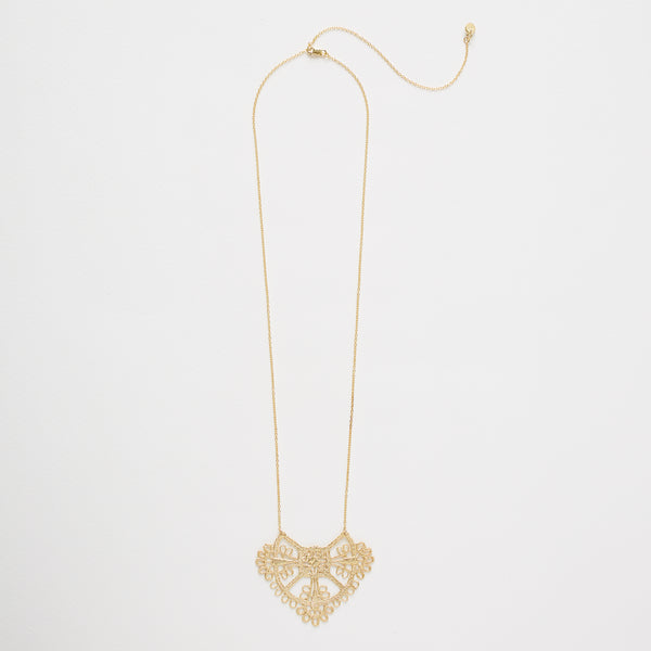 Parisian Lace Necklace Gold