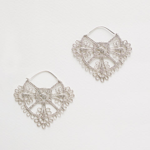 Parisian Lace Earrings Sterling Silver