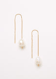 Pearl Thread Earrings Gold
