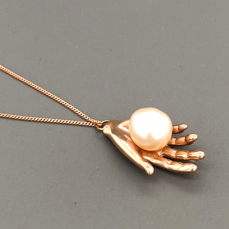 Pearl of Wisdom Necklace Rose Gold