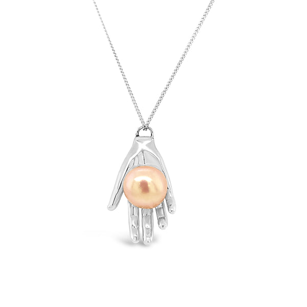 Pearl of Wisdom Necklace Silver