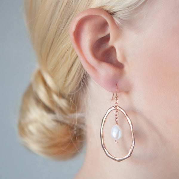 Rings Around You Earrings Rose Gold