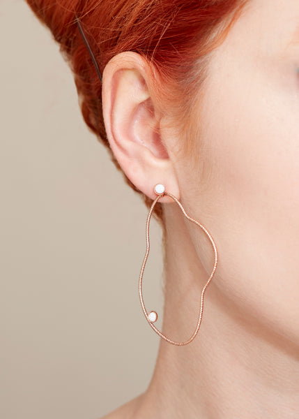Organic Abstraction Earrings - Rose Gold