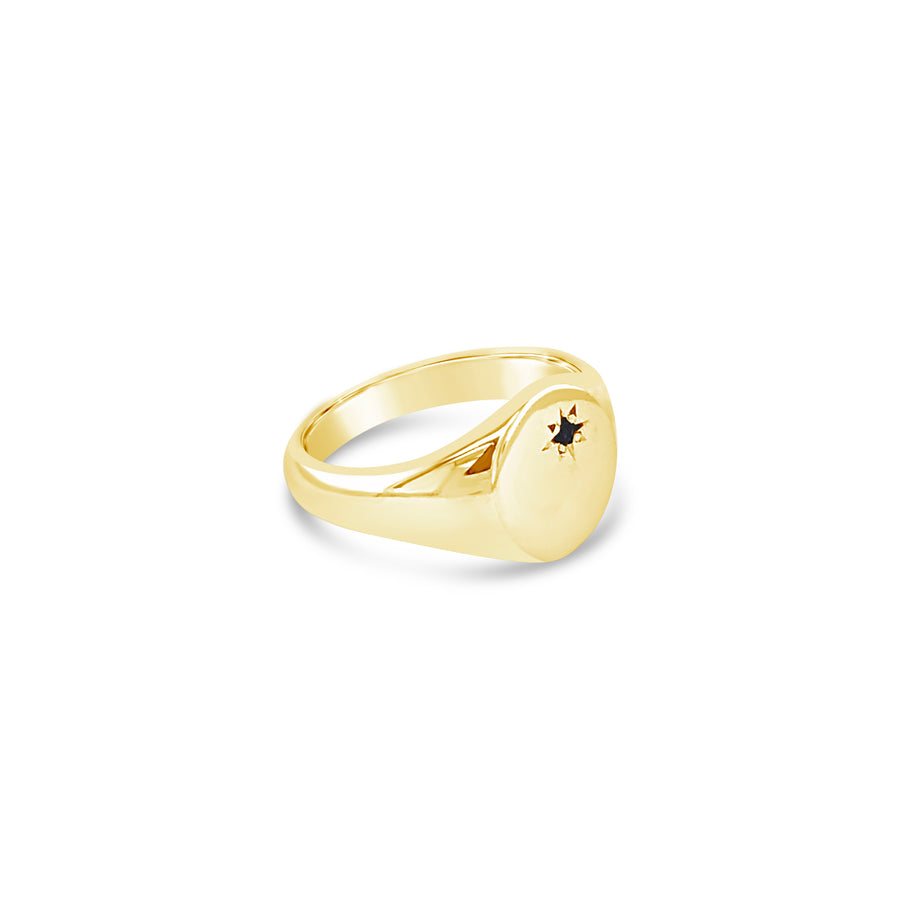 Classic Signet Ring with Gem