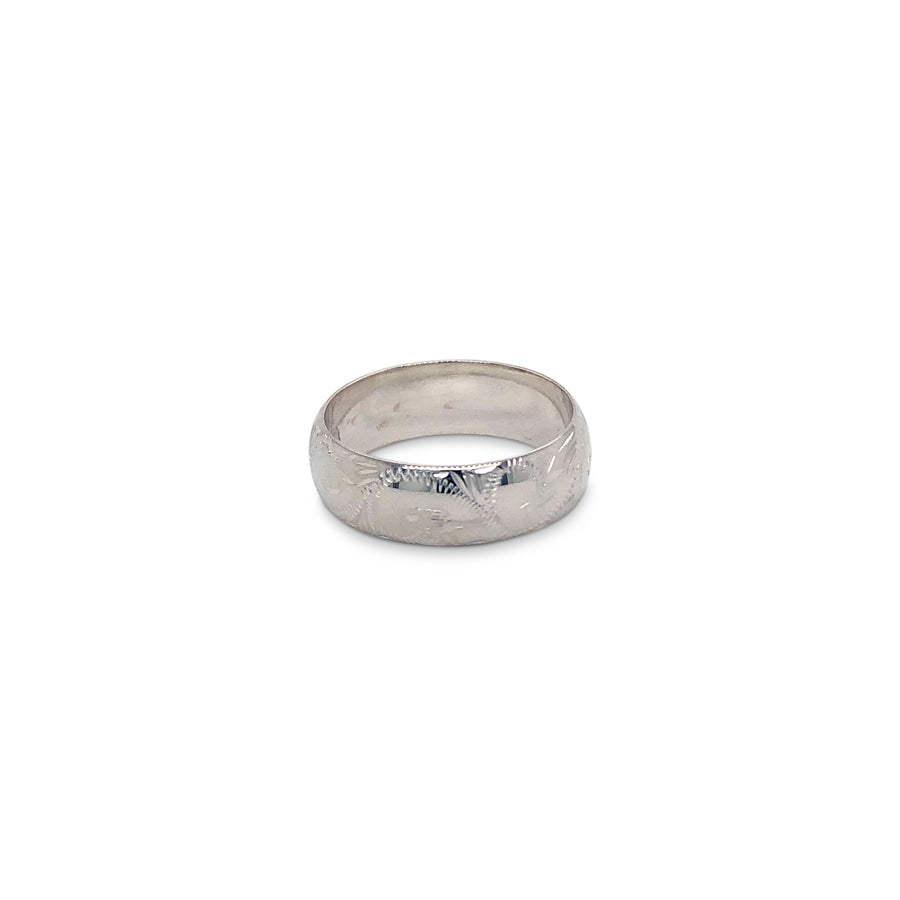 Engraved Thick Wedding Band