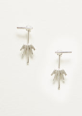 Starburst Jacket Earrings - Silver