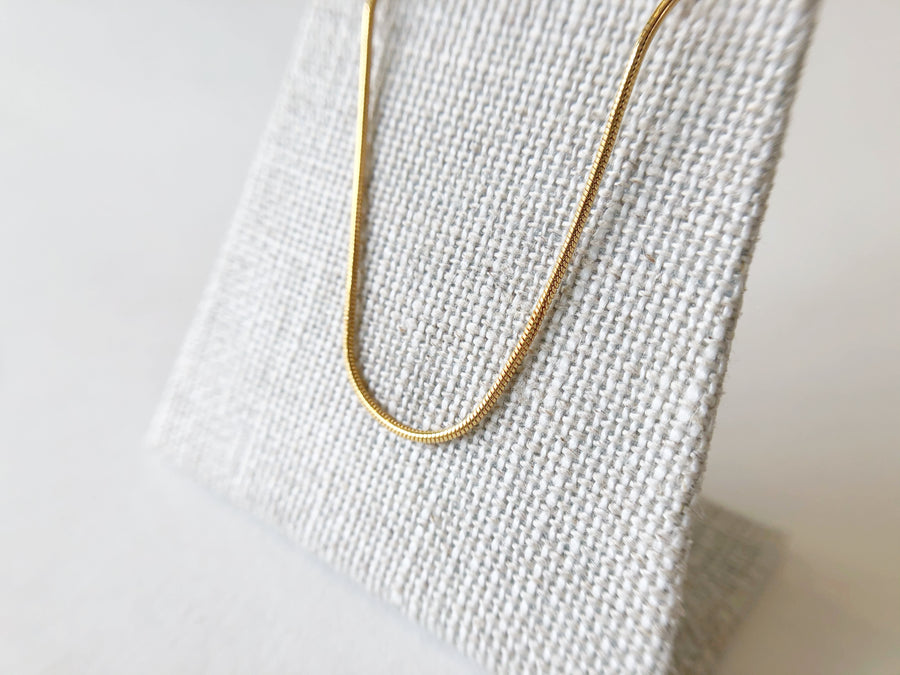 Snake Chain Necklace Gold