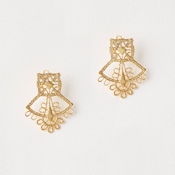 Saint-Etienne Lace Earrings Gold