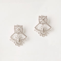Saint-Etienne Lace Earrings Sterling Silver