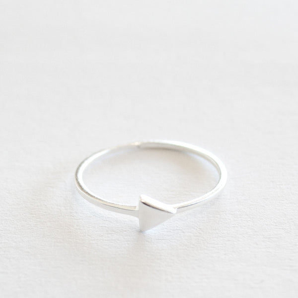Triangle Stack Ring - Sterling Silver
