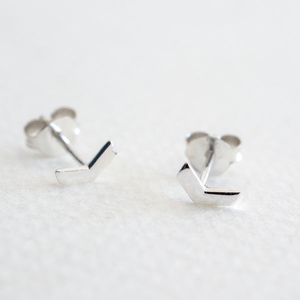Little - Chevron Studs - Silver