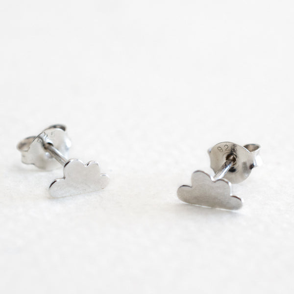 Little - Cloud Studs - Silver