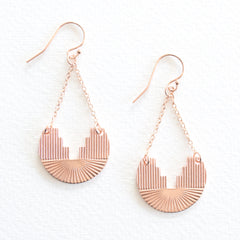 Etched Earrings - Rose Gold