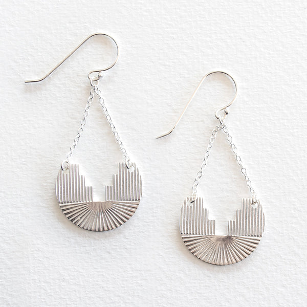 Etched Earrings - Silver