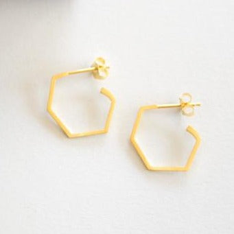 Everyday Hex Earrings - Gold