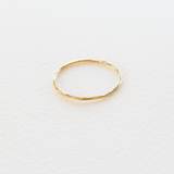 Everyday Fine Hammered Ring - Gold