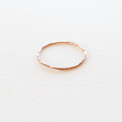 Everyday Fine Hammered Ring - Rose Gold