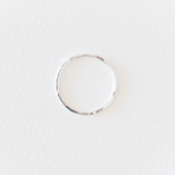 Everyday Fine Hammered Ring - Sterling Silver