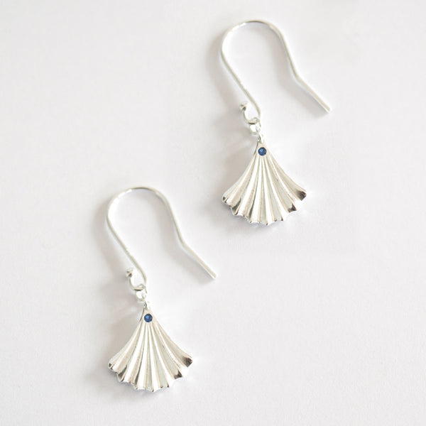 Ginkgo Sterling Silver Fan Earring