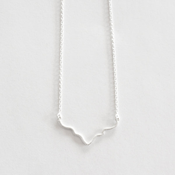 Hanging Ogee Necklace - Silver
