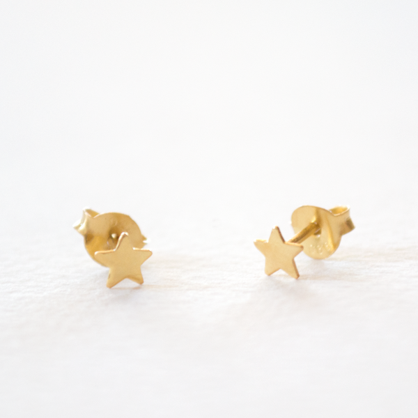 Little - Star Studs - Gold