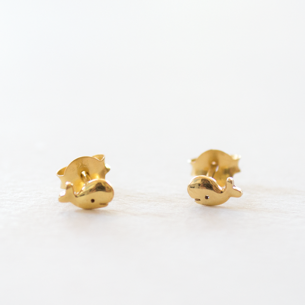 Little - Whale Studs - Gold