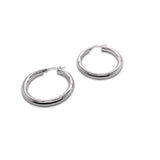 Maxi Hoop Earrings Silver Small