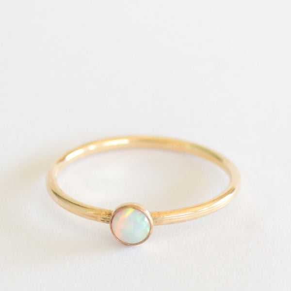 Opal Stack Ring - Gold