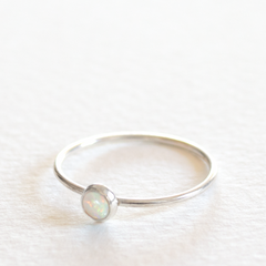 Opal Stack Ring - Sterling Silver