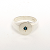 Sterling Silver Signet Ring with Gem Setting