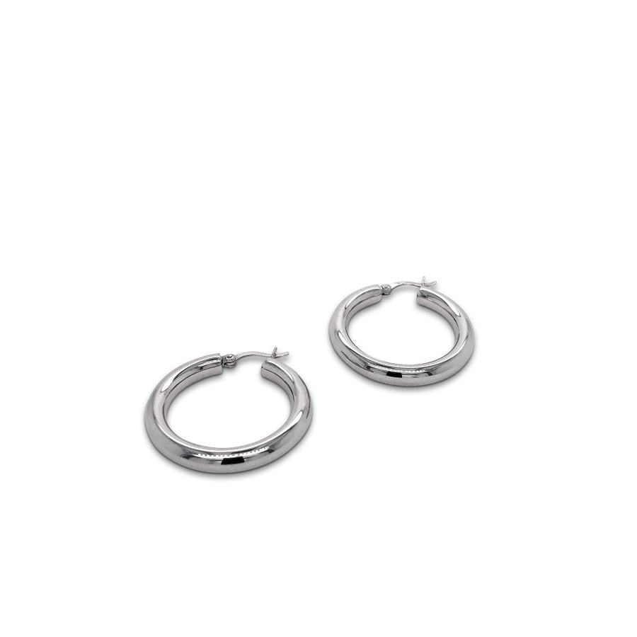 Maxi Hoop Earrings Silver Extra Small