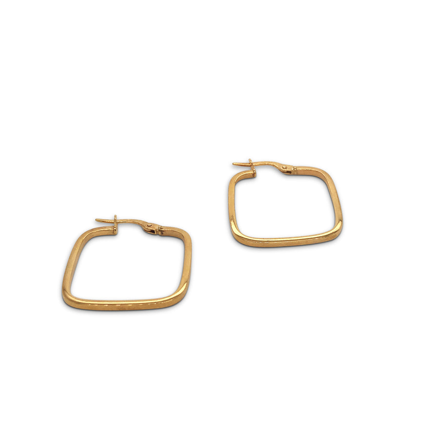 Square Hoop Earrings 9ct Gold