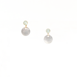 Swiss Blue Topaz Tiny Charm Earrings