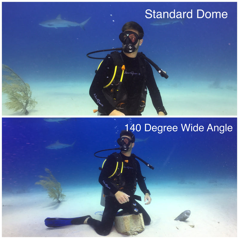 120/140º  Underwater Wide Angle Lens - ValsTech, Inc.,  - Lenzo,  - underwater case