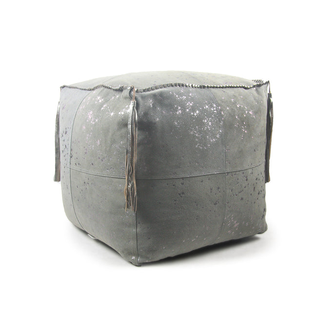 Metallic Dappled Pouf