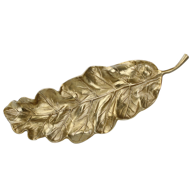Metal Leaf Serving Tray