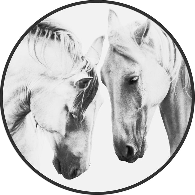 Circular (Round) Wall Art / Wall Decor - Mustang