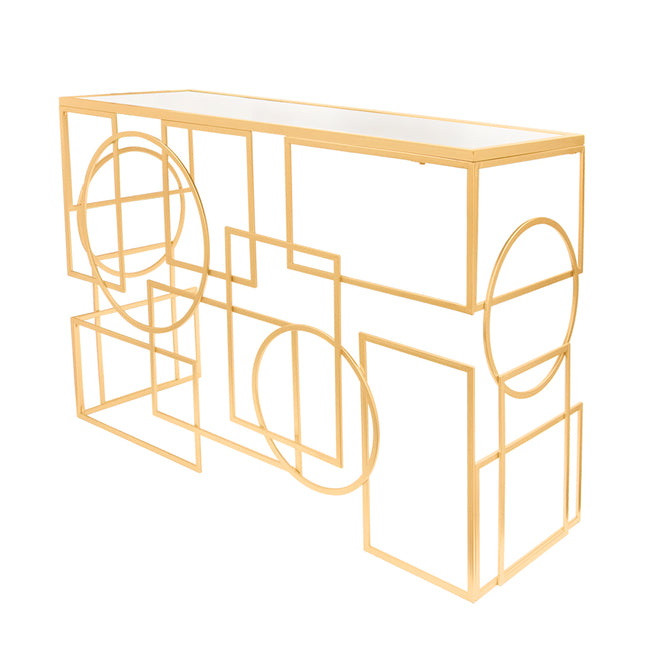 Contemporary Geometric Console Table