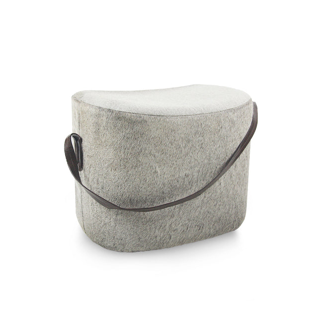Heather Grey Pouf