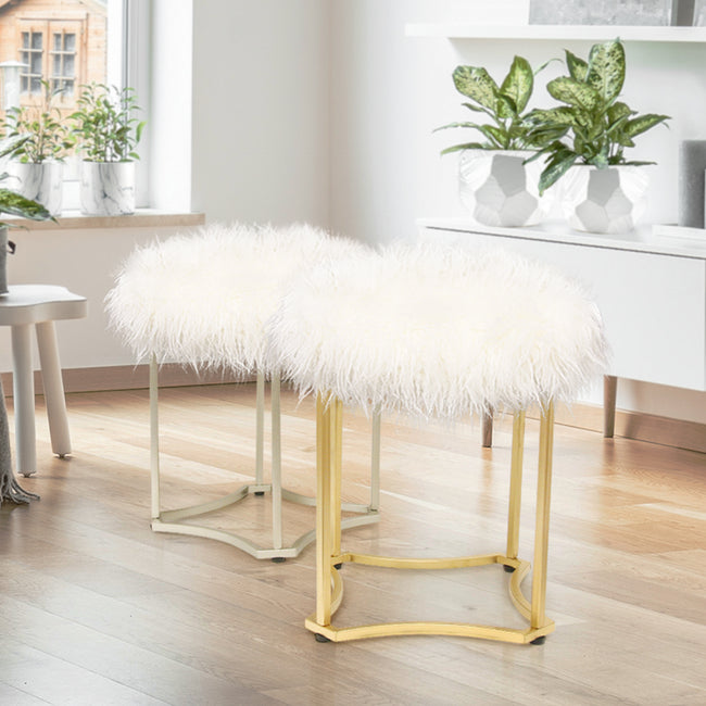 Alpaca Fur Stool