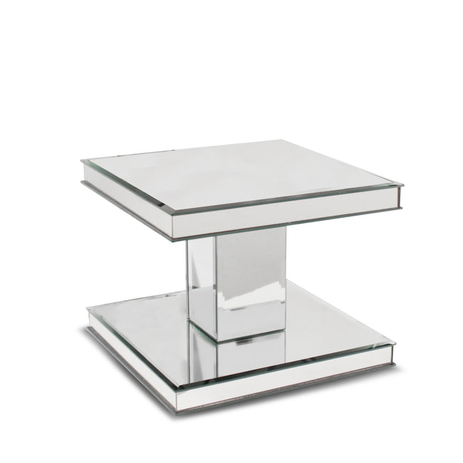2 Tier Mirror Glass Display Stand