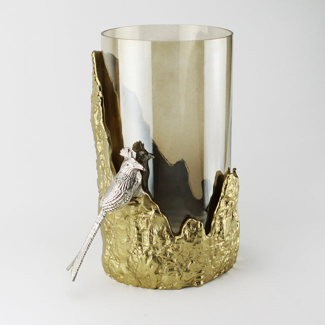 Candle Holder with Glass Hurricane or Vase
