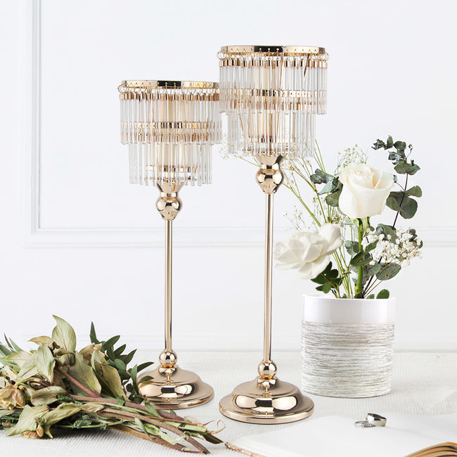 Layered Chandelier Votive Candle Holder