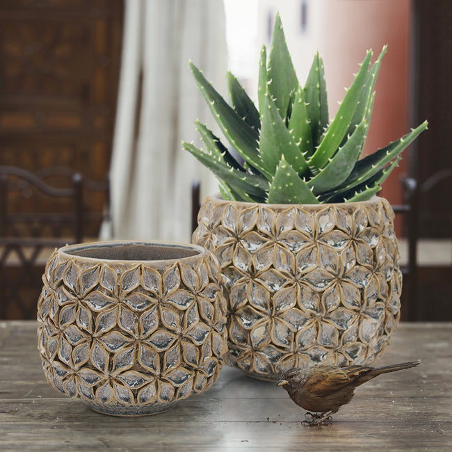 Lotus Ceramic Planter